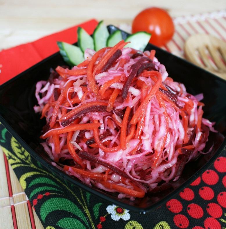 Салат из свеклы с морковью для похудения